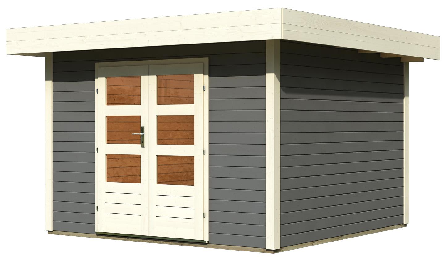 karibu gartenhaus multi cube 4. Black Bedroom Furniture Sets. Home Design Ideas