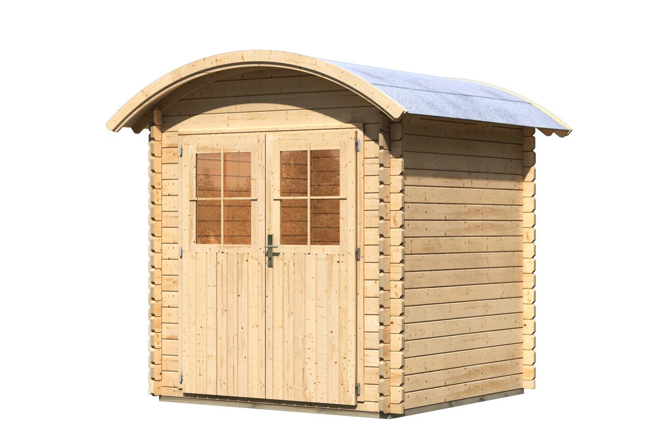 Gartenhaus karibu taha mit tonnendach online g nstig kaufen - Gartenhaus mit tonnendach ...
