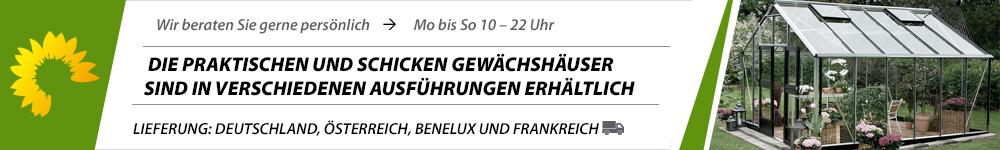Banner Juliana & Halls Gewächshaus
